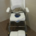 Shower Commode with grab rail